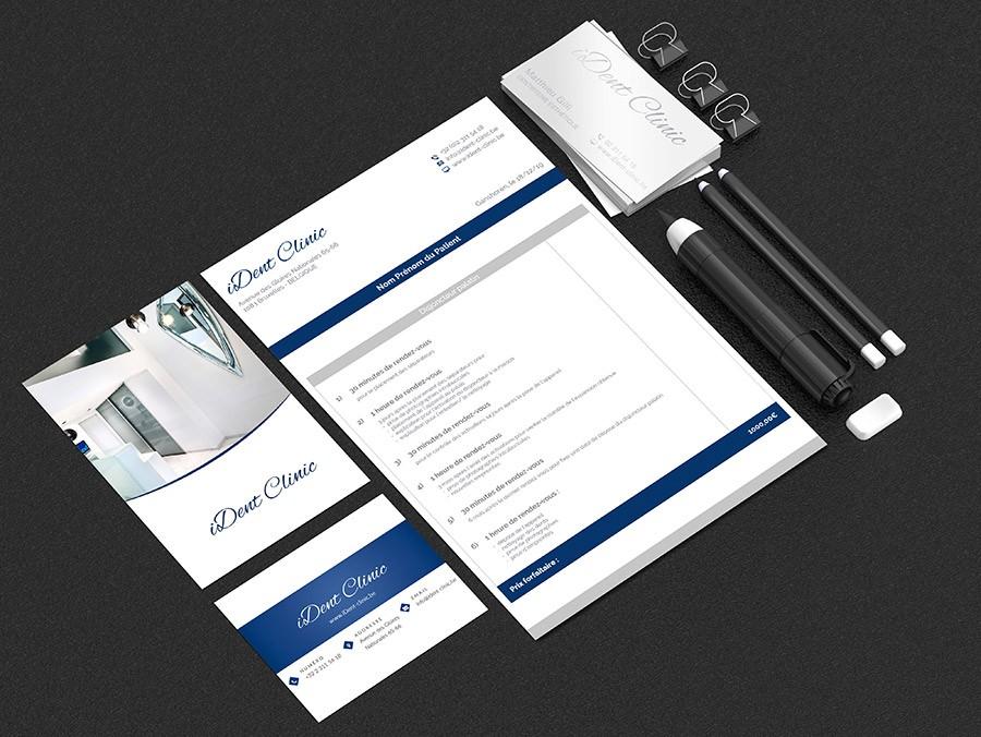 Création de charte graphique pour cabinet de dentisterie