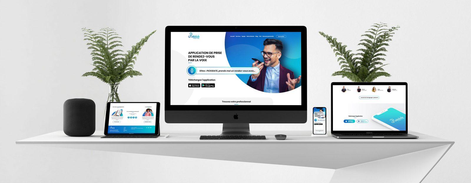 Création site web responsive pour application à commande vocale