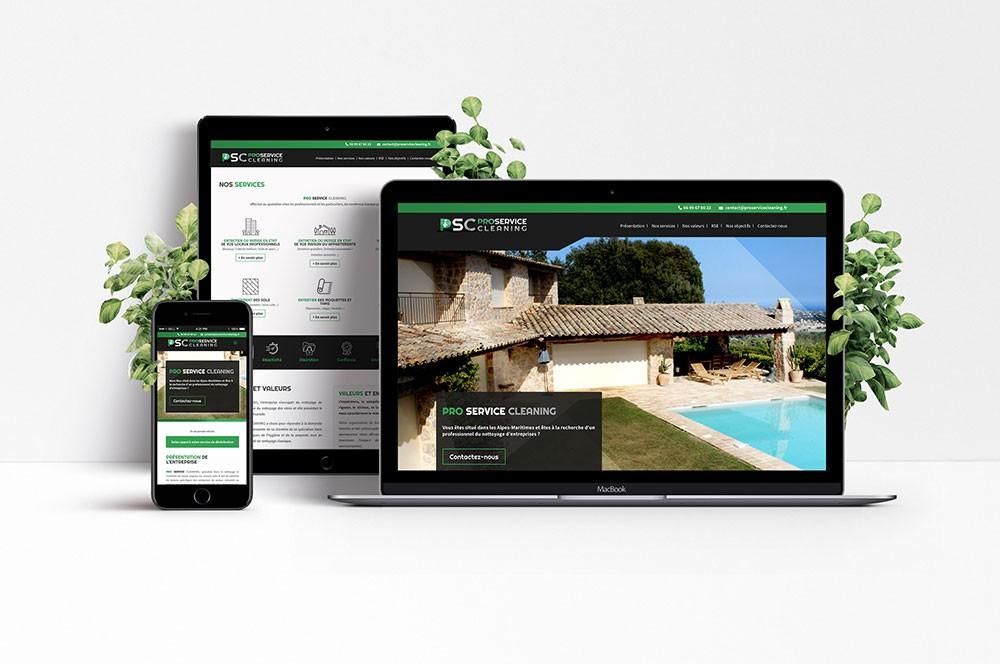 Création de site internet responsive pour entreprise de service d'entretien de locaux