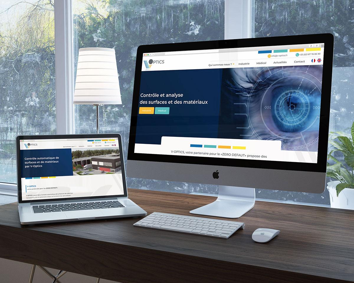 Création de site internet V-optics