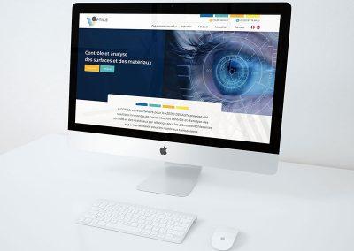 Refonte charte graphique et site web V-optics