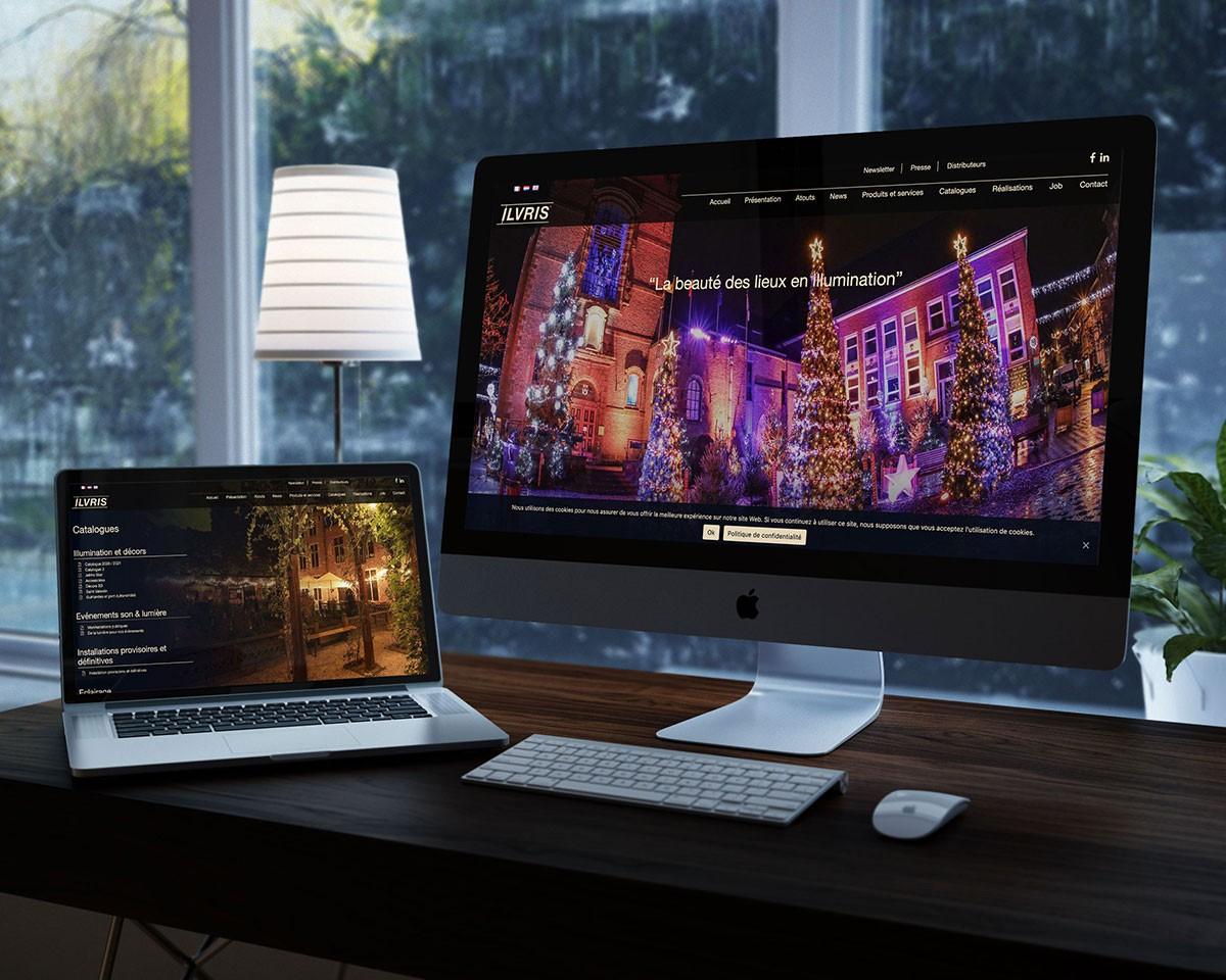 Création de site internet illuminations et décors