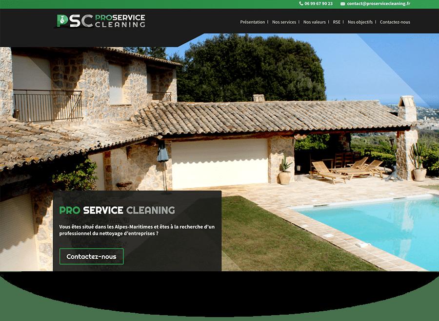 Création de site internet service de nettoyage et d'entretien