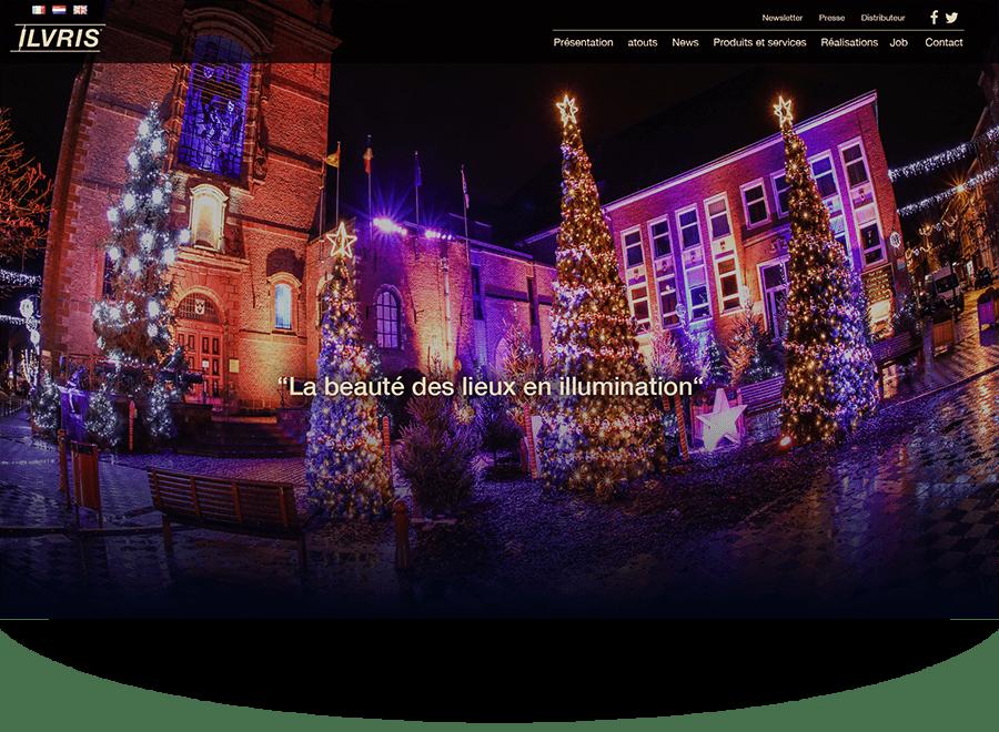 Refonte d'un site internet de décorations lumineuses
