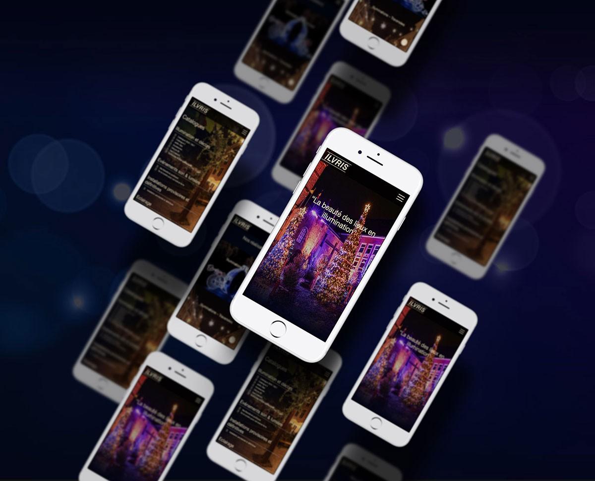 Responsive design site internet décors et illumination