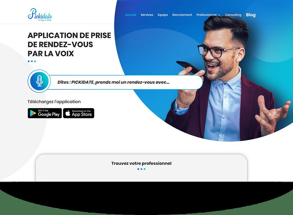 Création du site web pickidate - application à commande vocale