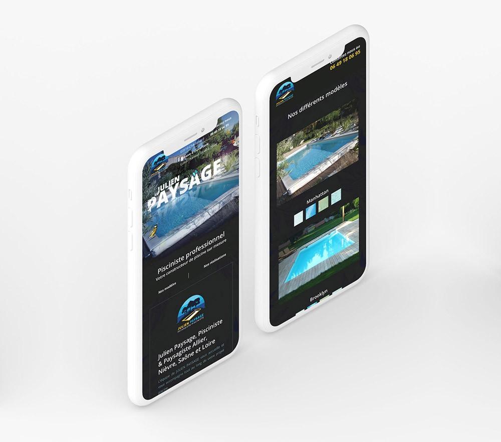 Site internet paysagiste responsive version mobile