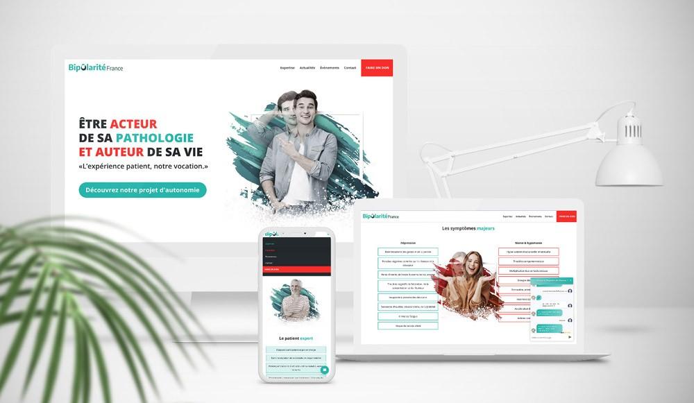 Webdesign responsive d'une association dans le domaine de la santé