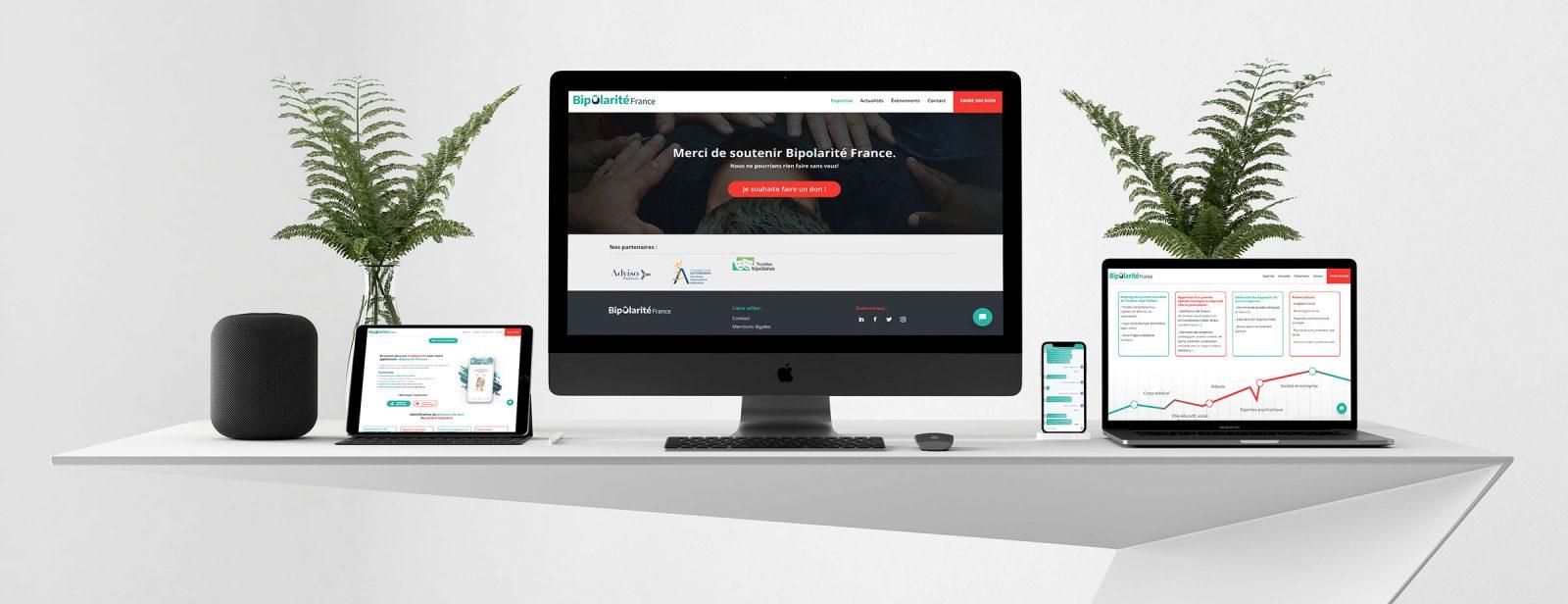 résultat du webdesign responsive de l'association