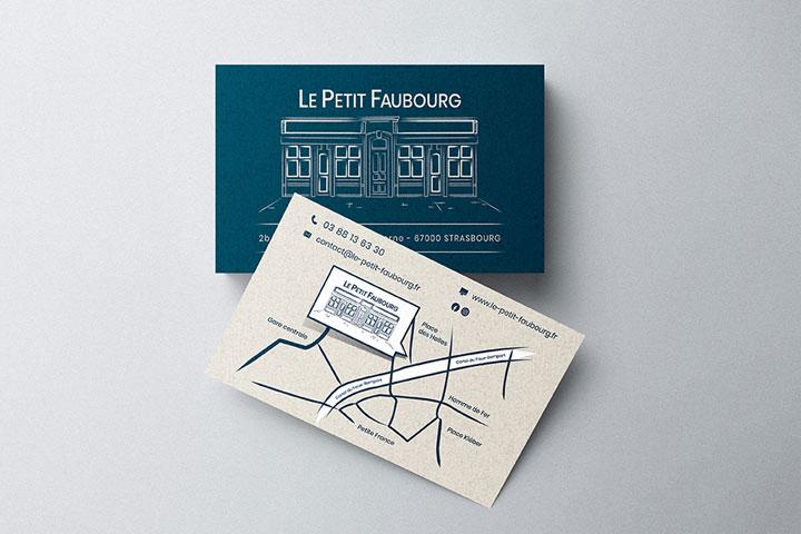 Création de cartes de visite pour restaurant
