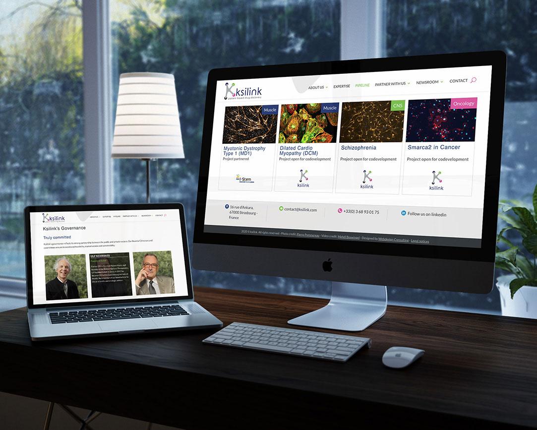 pages de contenus site internet recherche médicale