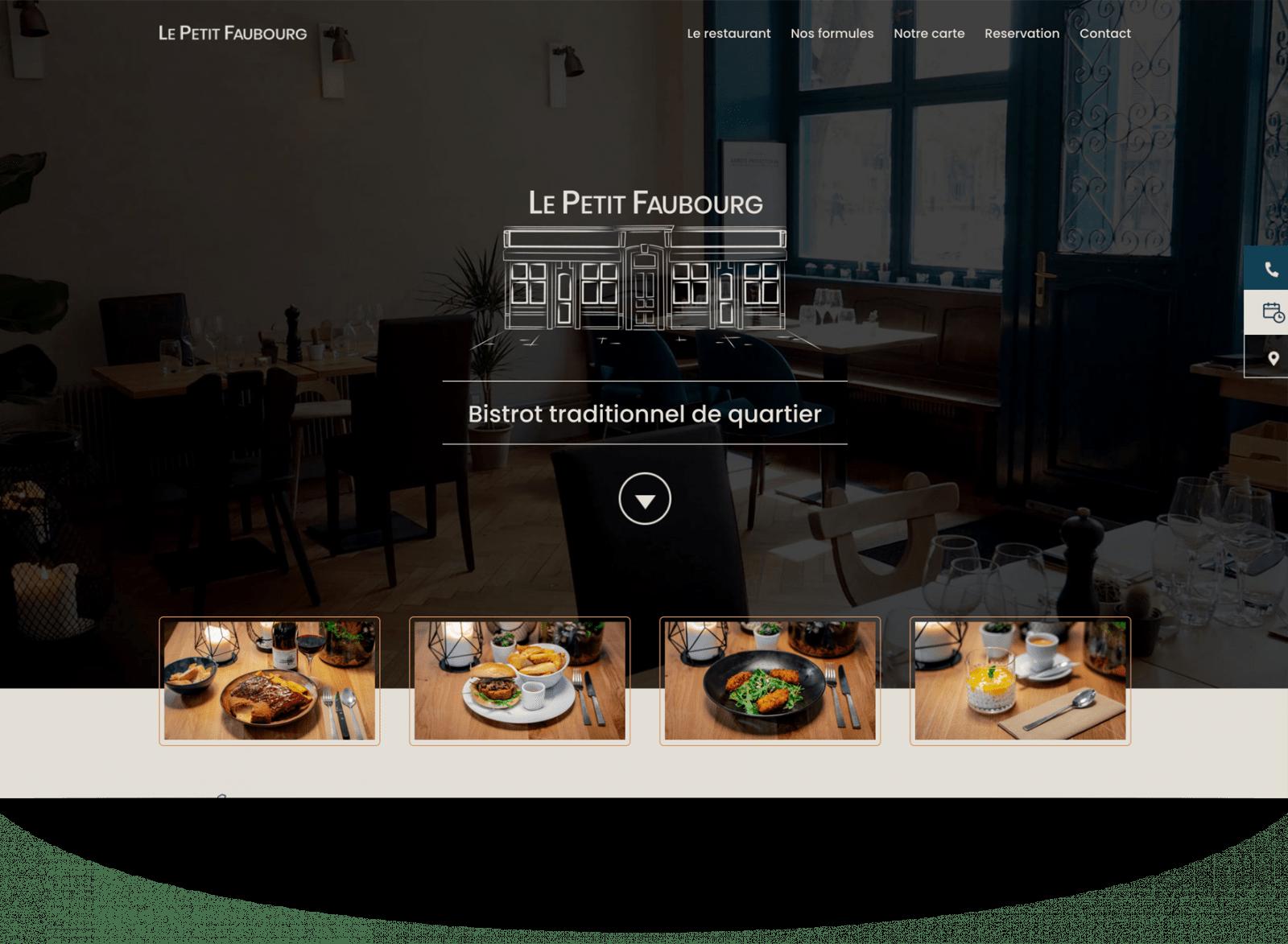 Création d'identité visuelle et site internet pour restaurant