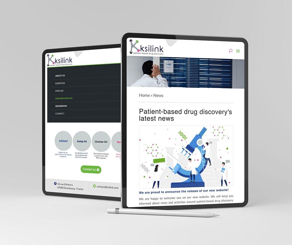 site internet medical responsive version tablet
