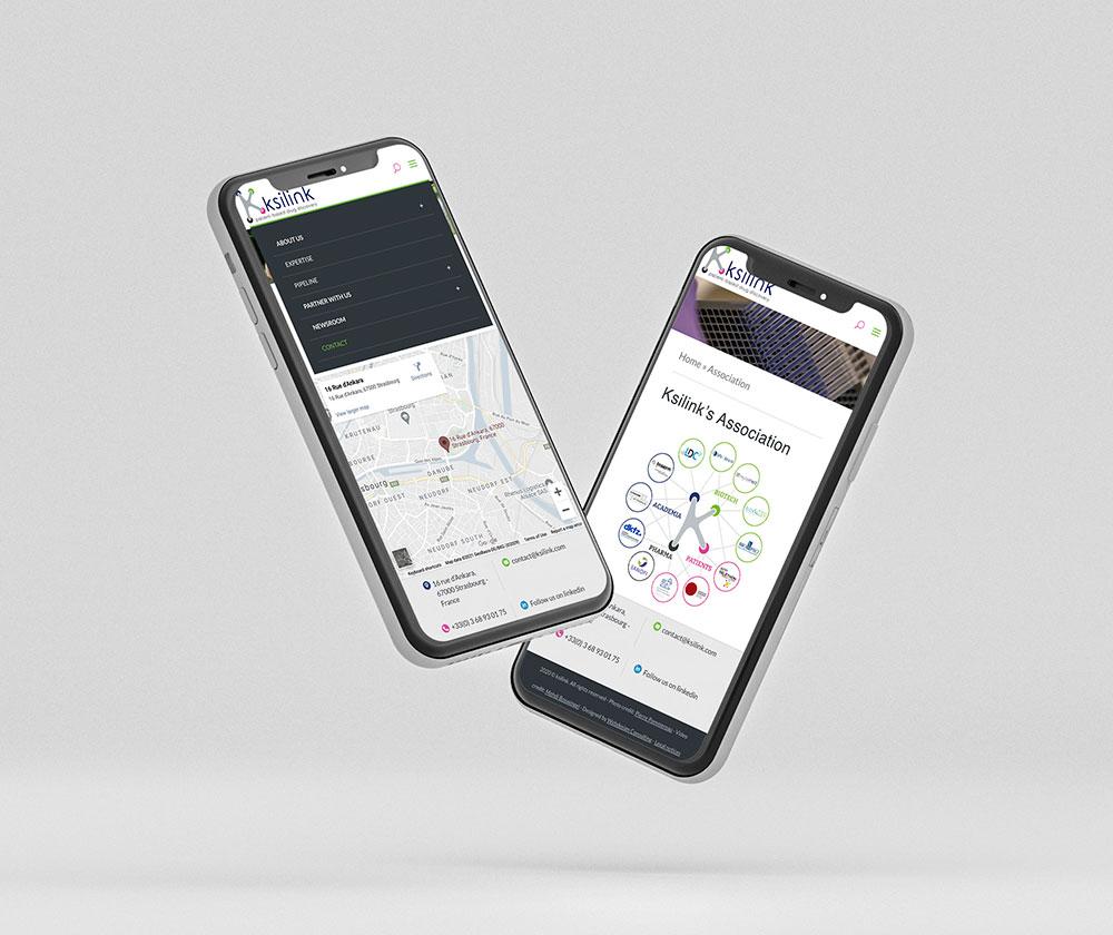 Site internet association de recherche médicale version mobile