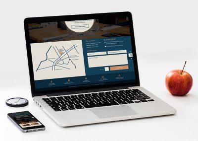 Création d'identité visuelle et de site internet pour restaurant